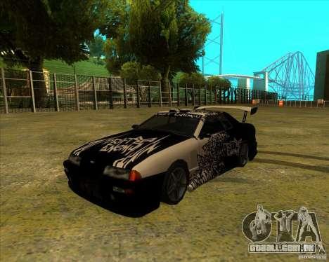 Elegia com novos spoilers para GTA San Andreas esquerda vista