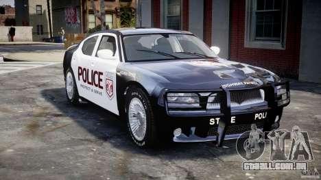 Dodge Charger SRT8 Police Cruiser para GTA 4 vista superior