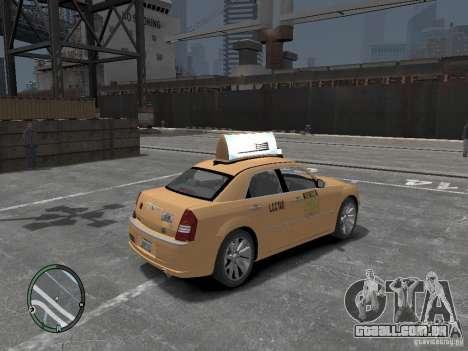 Chrysler 300c Taxi v.2.0 para GTA 4 traseira esquerda vista