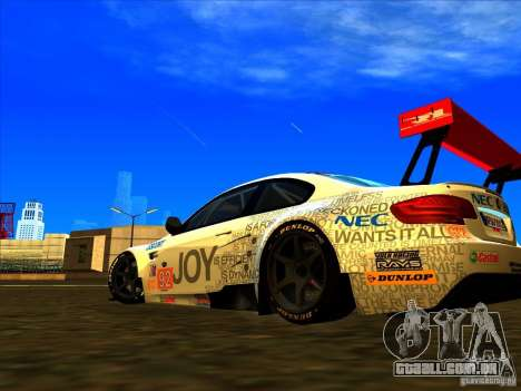 BMW M3 GT ALMS GT2 Series para GTA San Andreas vista traseira