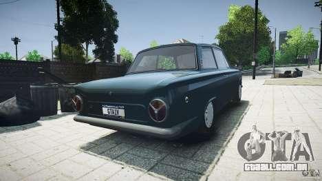Lotus Cortina S 1963 para GTA 4 traseira esquerda vista