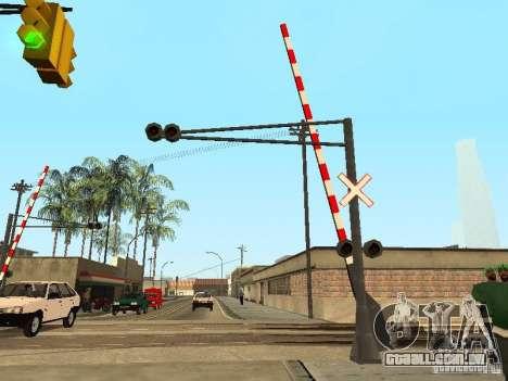 FERROVIÁRIA atravessando RUS para GTA San Andreas segunda tela