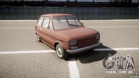Fiat 126 para GTA 4 vista de volta