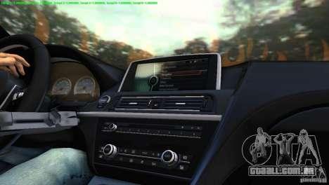 BMW M6 2013 para GTA Vice City vista direita