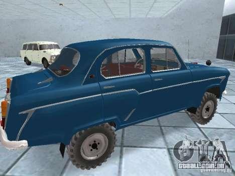 Moskvitch 410 4 x 4 para GTA San Andreas vista direita