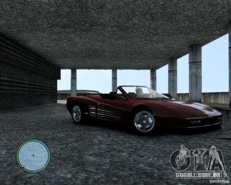Ferrari Testarossa para GTA 4 esquerda vista