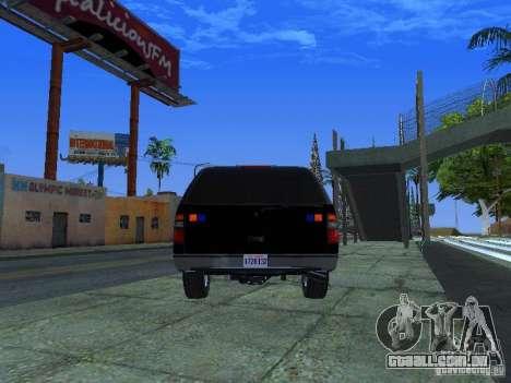 Chevrolet Suburban Los Angeles Police para GTA San Andreas traseira esquerda vista