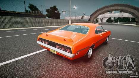 Mercury Cyclone Spoiler 1970 para GTA 4 traseira esquerda vista