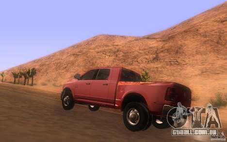 Dodge Ram 3500 Laramie 2010 para GTA San Andreas traseira esquerda vista