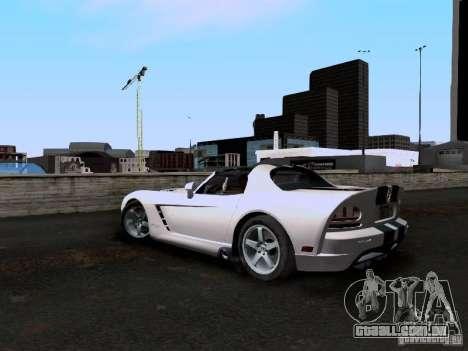 Dodge Viper SRT-10 Custom para GTA San Andreas traseira esquerda vista