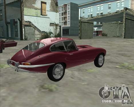 Jaguar E-Type Coupe para GTA San Andreas esquerda vista
