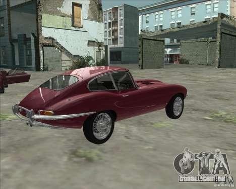 Jaguar E-Type Coupe para GTA San Andreas esquerda vista