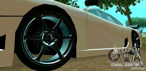 New Turismo para GTA San Andreas vista interior