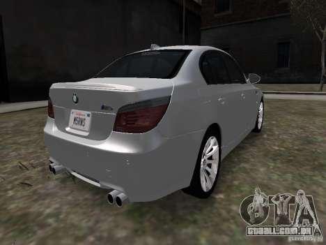 BMW M5 para GTA 4 traseira esquerda vista