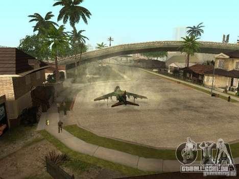 Camuflagem para Hydra para GTA San Andreas traseira esquerda vista