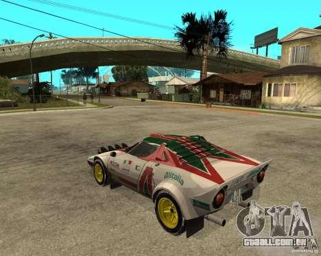 Lancia Stratos para GTA San Andreas esquerda vista
