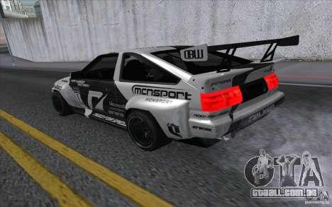 Toyota Corolla AE86 Shift 2 para GTA San Andreas esquerda vista