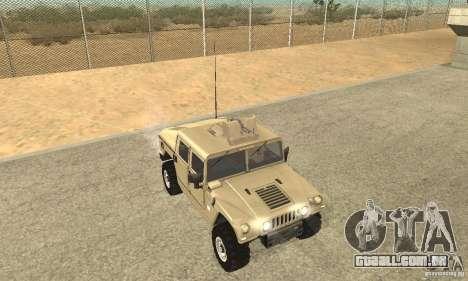 Hummer H1 para GTA San Andreas vista interior