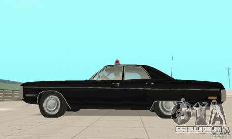 Plymouth Fury III Police para GTA San Andreas vista direita