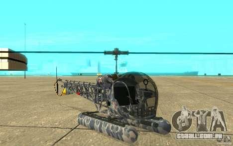 Sea Bell H13 para GTA San Andreas esquerda vista