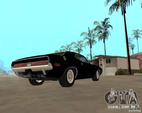 1970 Dodge Challenger R/T para GTA San Andreas vista direita
