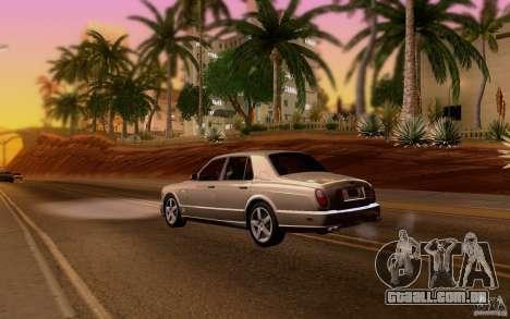 Bentley Arnage para GTA San Andreas vista direita