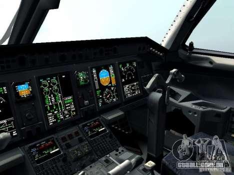 Embraer E-190 para GTA San Andreas vista superior