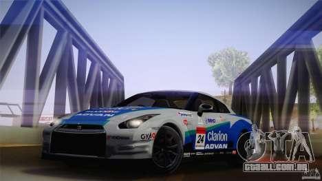 Nissan GTR R35 Tunable v2 para GTA San Andreas traseira esquerda vista