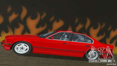 BMW 540i e34 1992 para GTA Vice City vista traseira