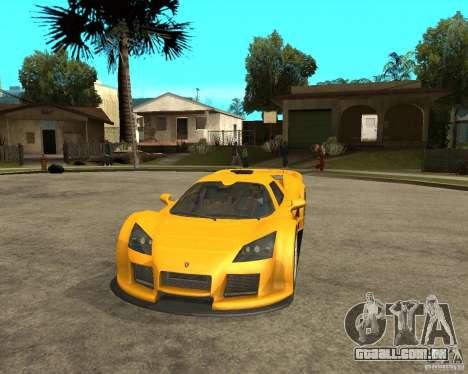 Gumpert Appolo para GTA San Andreas vista traseira