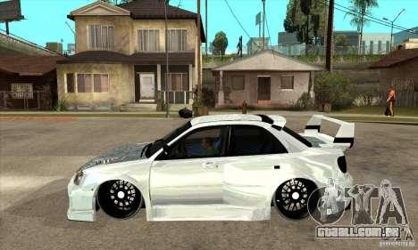 Subaru Impreza Tunned para GTA San Andreas esquerda vista