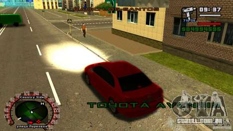 Toyota Avensis para GTA San Andreas vista direita