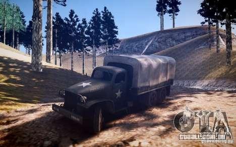 Millitary caminhão de Mafia II para GTA 4 traseira esquerda vista