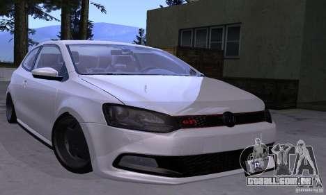 Volkswagen Polo GTI Stanced para GTA San Andreas vista traseira