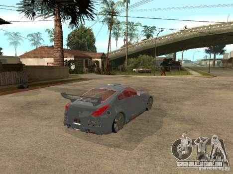 Nissan 350Z Virgo para GTA San Andreas traseira esquerda vista