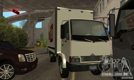 Caminhão com logotipo do YouTube para GTA San Andreas vista direita
