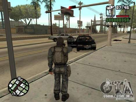 Mercenário de perseguidor em máscara para GTA San Andreas quinto tela