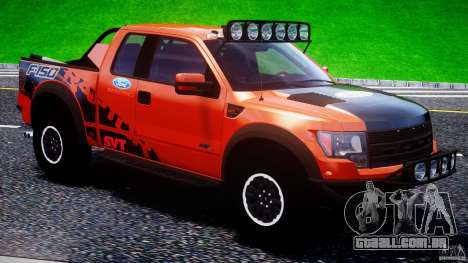 Ford F150 Racing Raptor XT 2011 para GTA 4 vista inferior