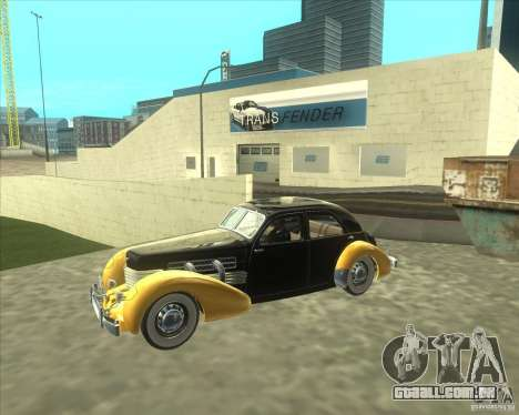 1937 Cord 812 Charged Beverly Sedan para GTA San Andreas