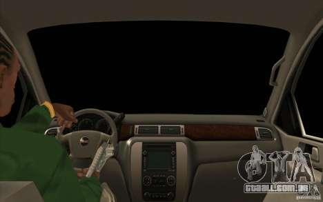 GMC Yukon 2008 para GTA San Andreas vista interior