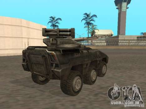 APC Anti-Air para GTA San Andreas traseira esquerda vista