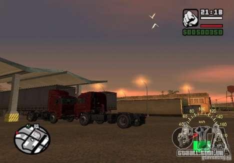 Kamaz 5460 para GTA San Andreas traseira esquerda vista