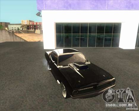 Plymouth Barracuda para GTA San Andreas vista direita