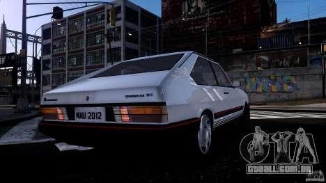 Volkswagen Passat Pointer GTS 1988 Turbo para GTA 4 vista de volta