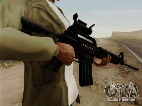 Colt Commando Aimpoint para GTA San Andreas terceira tela