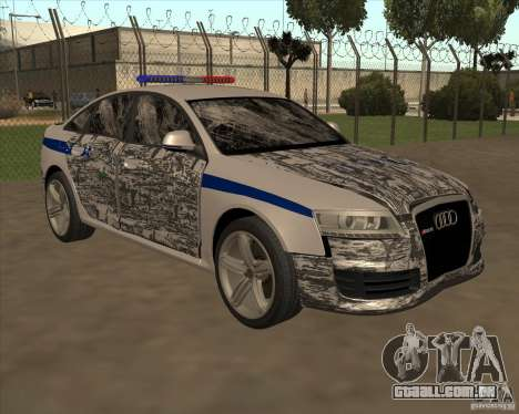 Audi RS6 2010 DPS para GTA San Andreas vista inferior