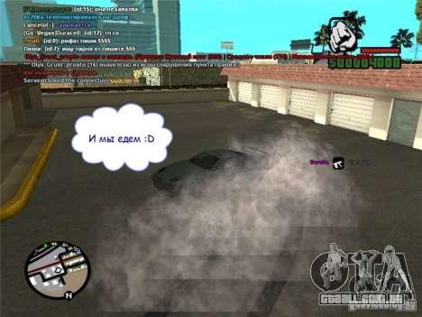 Dirigir seu carro em qualquer lugar para GTA San Andreas segunda tela