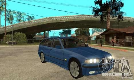 BMW 318i Touring para GTA San Andreas vista superior