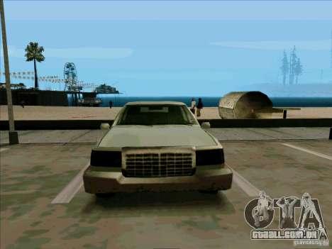 Uma limusine curta para GTA San Andreas vista interior