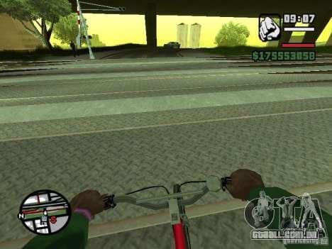 Primeira pessoa (primeira pessoa mod) para GTA San Andreas quinto tela